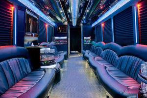 Party Bus Rental Service 45 Person Austin limousine transportation
