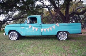 classic truck rental photo shoot